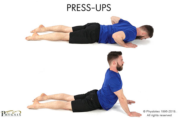 press up for back pain