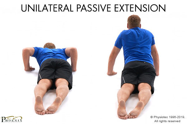 unilateral extension for backache
