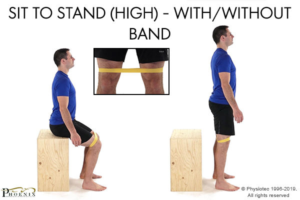 sit stand with band