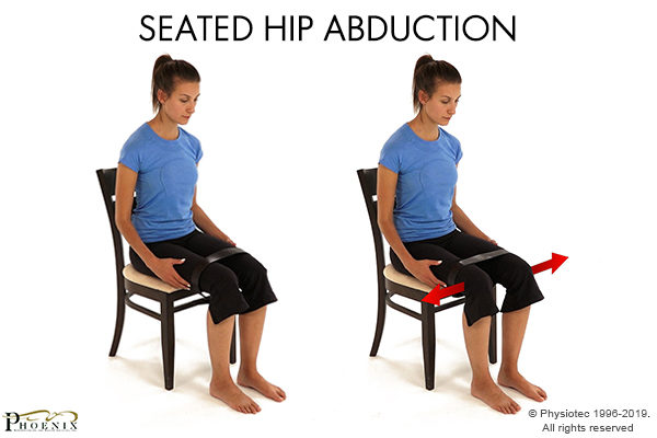 hip abduction seated