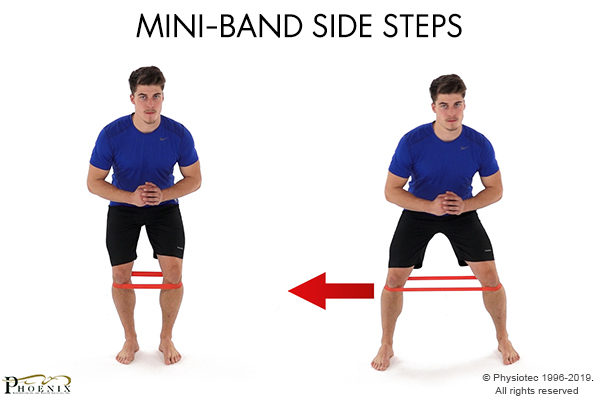 side steps with mini band