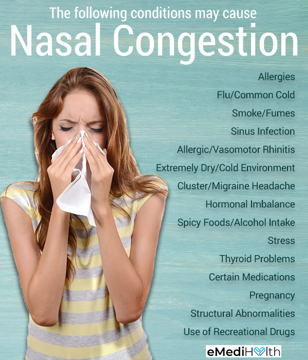 causes of nasal congestion