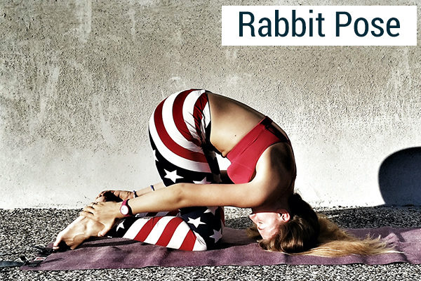 rabbit pose