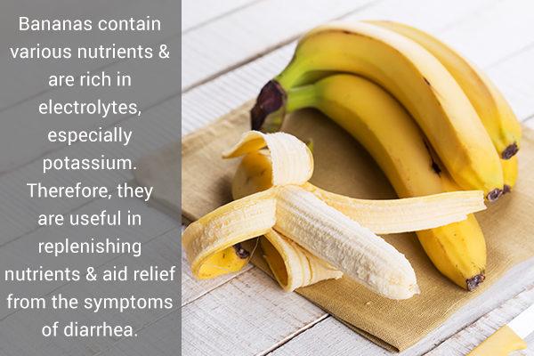 bananas can help promote regular bowel movements