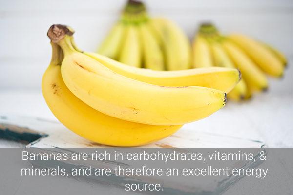 bananas also serve as a natural energy source