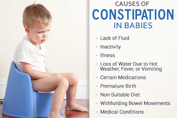 what causes constipation in babies?