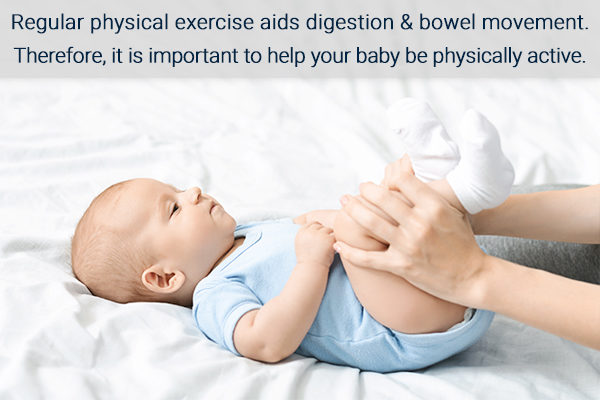 gentle exercises can help relieve infant constipation