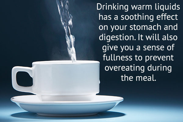 consuming warm water aids digestion