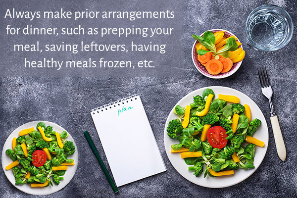 plan your meal beforehand