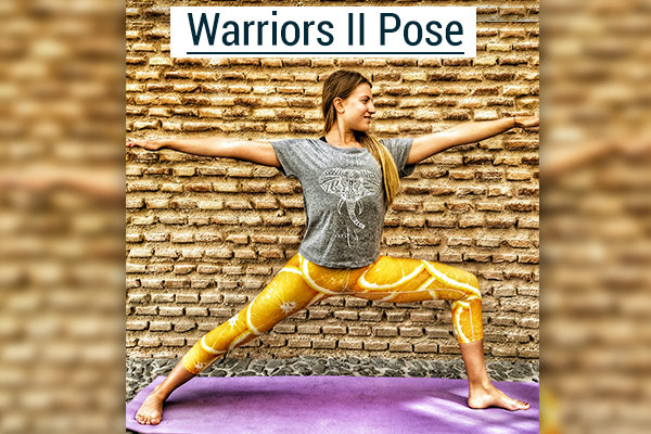 warriors yoga pose