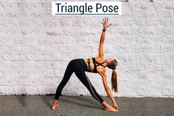 triangle yoga pose for climbers