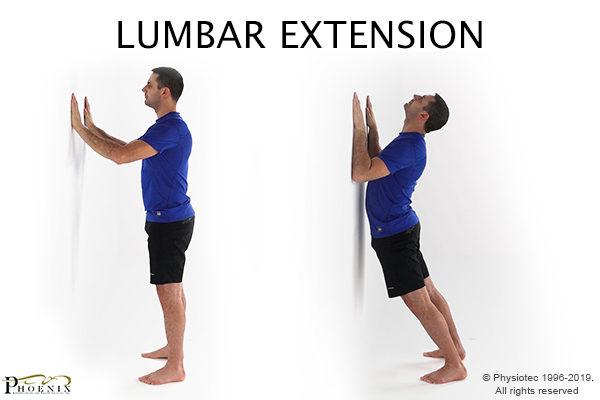 exercice d'extension lombaire pour la sciatique