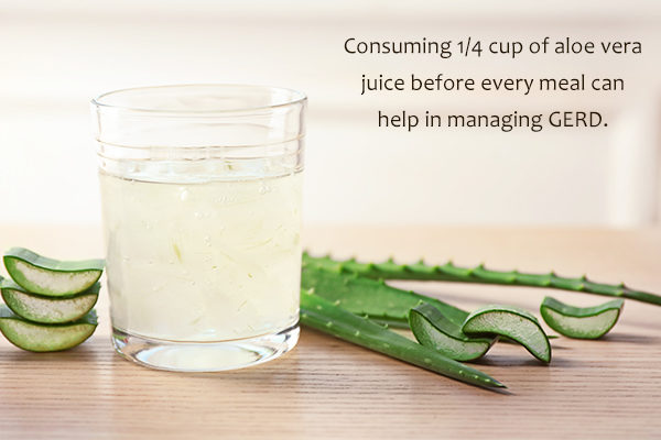 consuming aloe vera juice can help relieve acid reflux