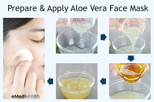 prepare and apply aloe vera face mask