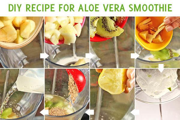 aloe vera smoothie preparation