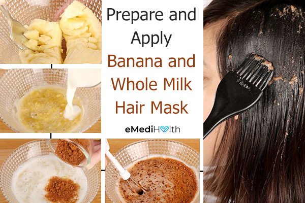 how to make and apply banana and whole milk hair mask