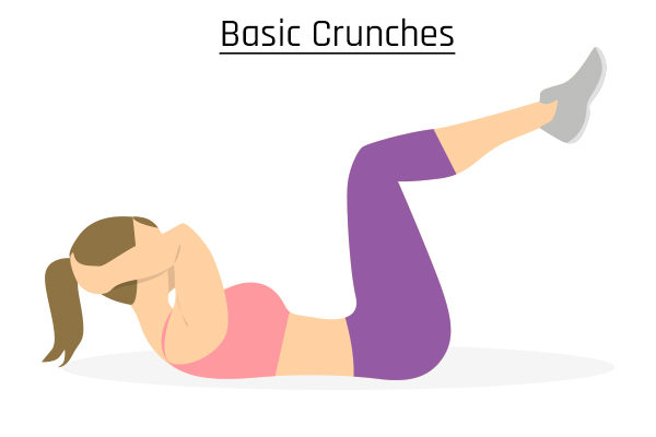 basic crunches for belly fat reduction