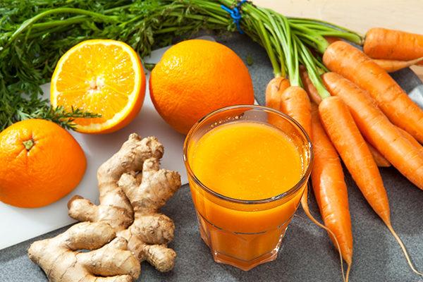 how to make orange-carrot-ginger juice