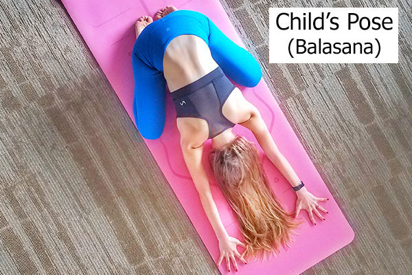child's pose for better sleep