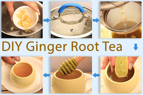 steps to make ginger root tea at home