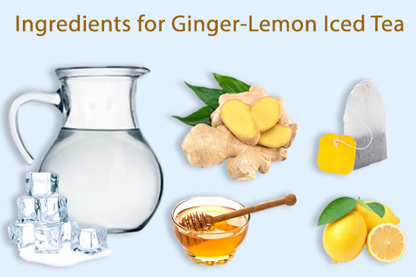 ginger-lemon iced tea ingredients