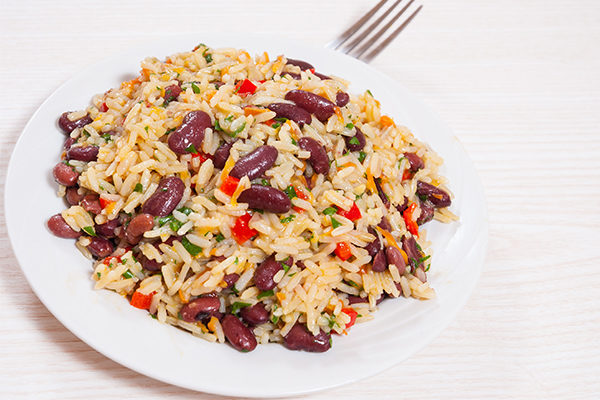 rice cake with beans and spices under 100 calories