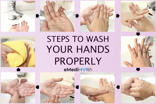 steps to wash hands properly