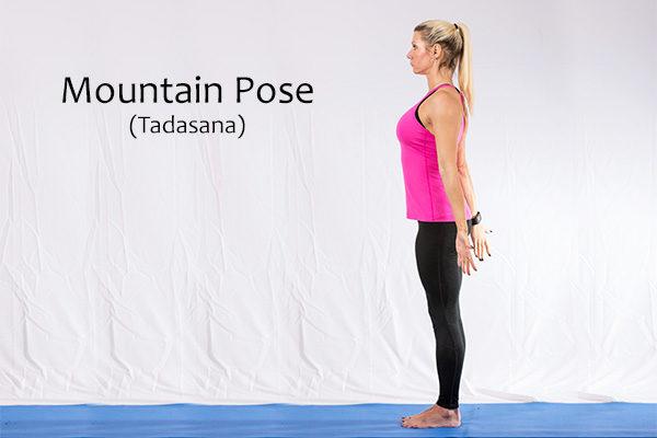 mountain pose (tadasana) fro back pain relief