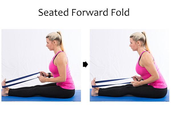 seated forward fold pose to increase flexibility