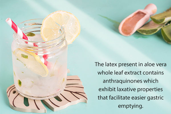 efficacy of aloe vera juice in relieving constipation