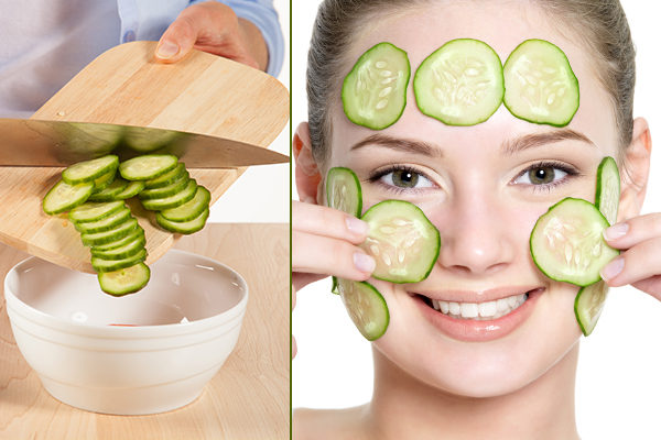 cucumber cold compress made at home