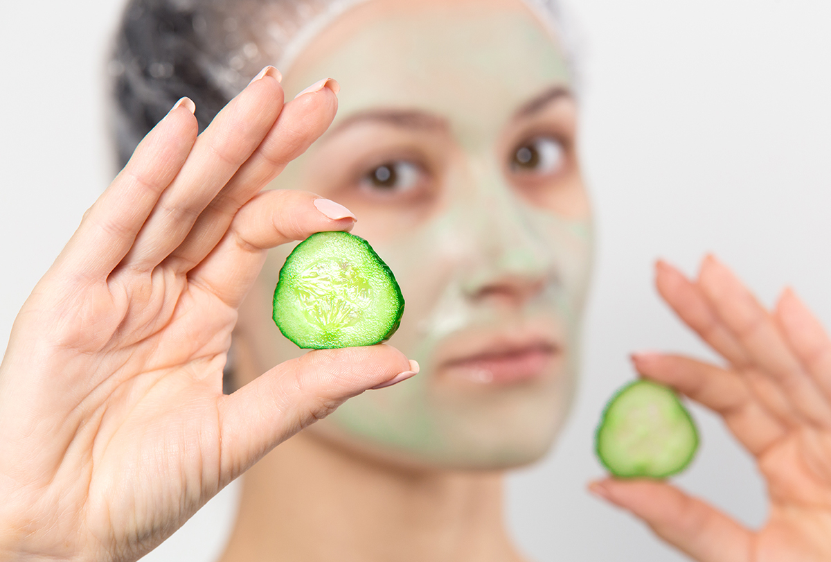 anti-aging cucumber face mask