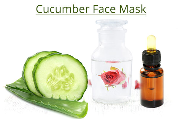 Homemade cucumber face mask ingredients