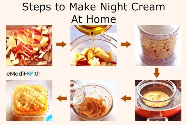 how to make diy apple night cream
