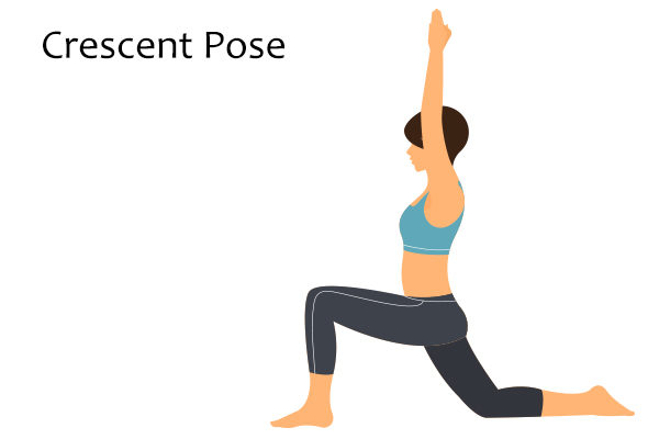 crescent pose to strengthen bone health