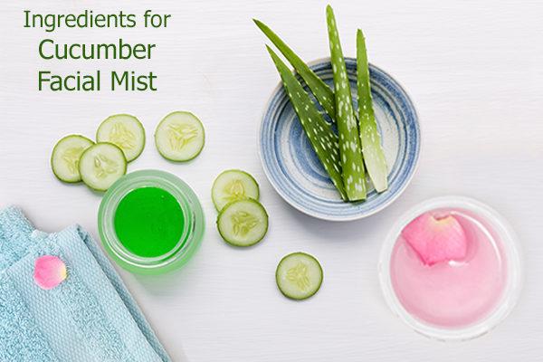 DIY cucumber facial mist ingredients