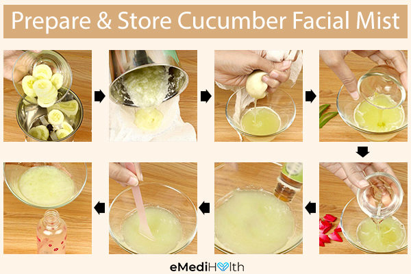 how to prepare and store cucumber facial mist