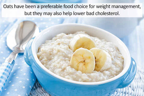 oatmeal consumption can help reduce cholesterol levels