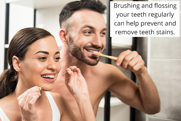 self-care measures to prevent tooth discoloration