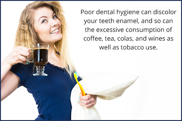 causes behind tooth discoloration