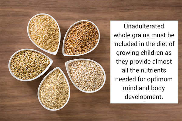 whole grains can be a healthy food option for children