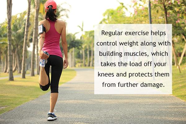 regular exercising can help prevent knee pain