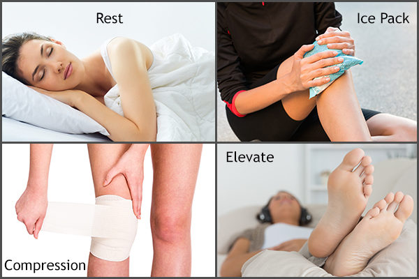 follow RICE to manage knee pain