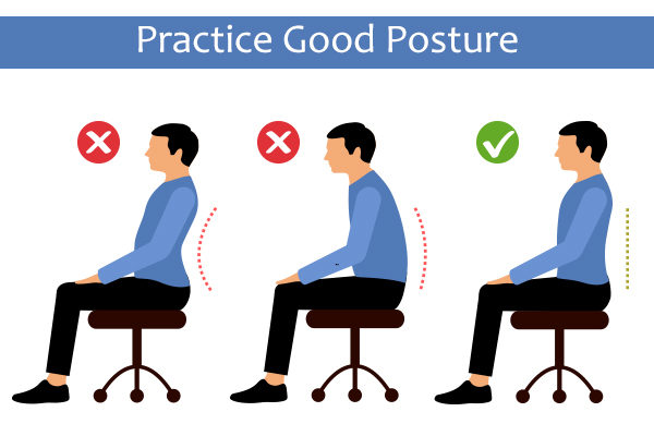 maintain good posture to lose neck fat