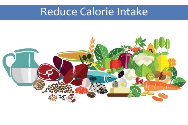 reduce calorie intake to combat obesity and neck fat