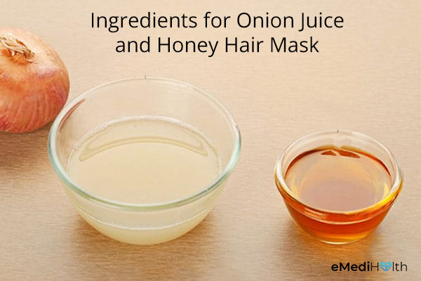 onion juice and honey hair mask ingredients