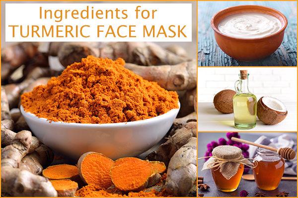 ingredients to make turmeric face mask