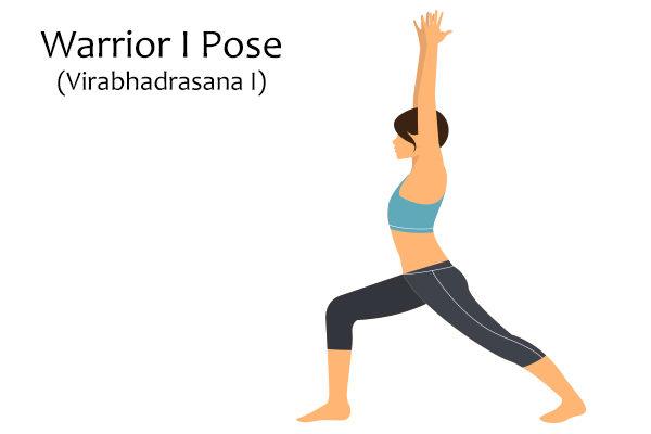 warrior I pose (virabhadrasana I)