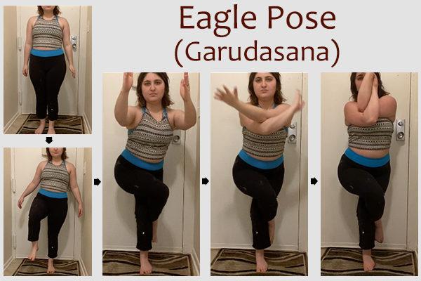 eagle yoga pose (garudasana)