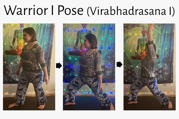 warrior I yoga pose (virabhadrasana I)